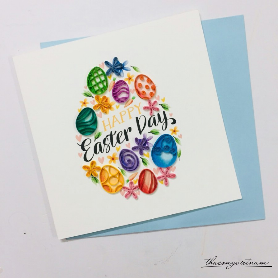 Thiệp quilling Easter Day - M1