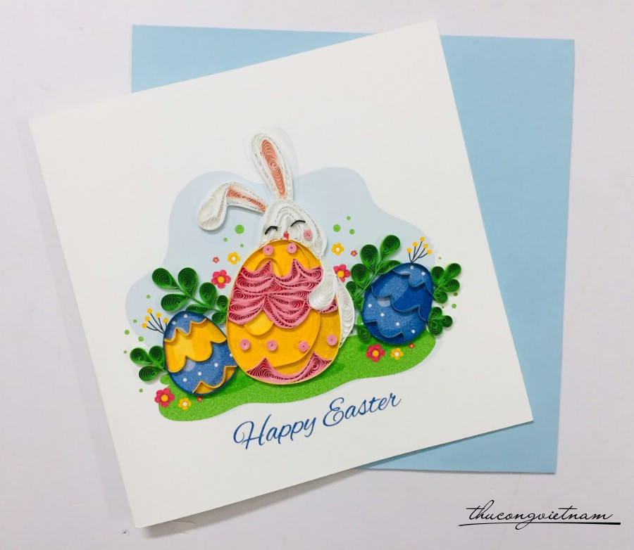 Thiệp quilling Easter Day - M2