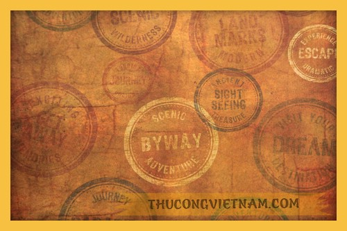 Giấy #60578 - Travel Stamps