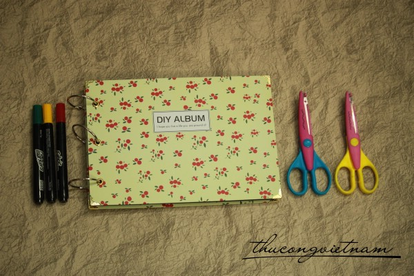 AS-02-3 Album scrapbook quả đỏ