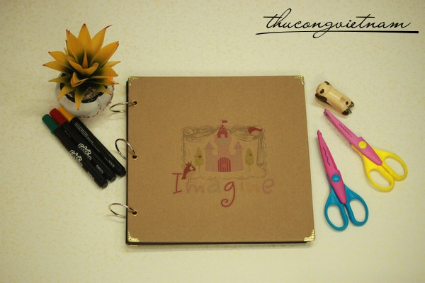 Album scrapbook vintage bìa Imagine