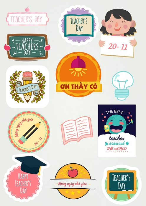 Sticker Teacher's day mẫu 2