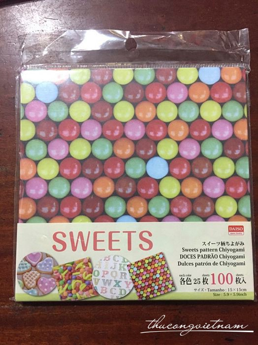 Giấy origami Sweets 100 tờ