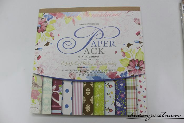 Sổ scrapbook Fresh series 30x30cm 27 tờ - PS045