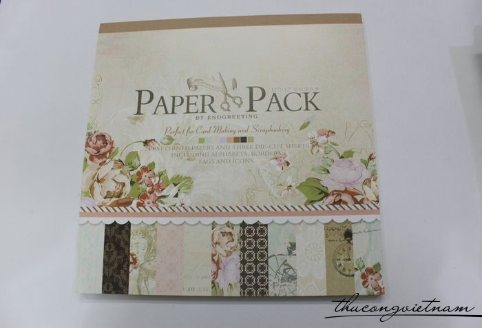 Sổ scrapbook Romantic 30x30cm 27 tờ - PS010