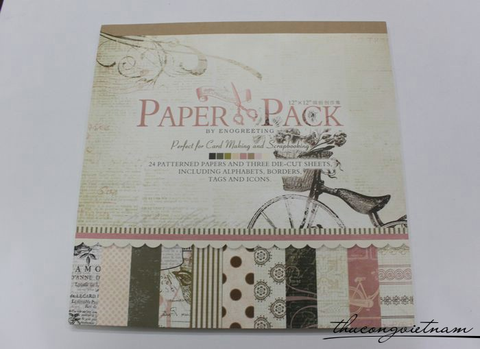 Sổ scrapbook Romantic 30x30cm 27 tờ - PS009