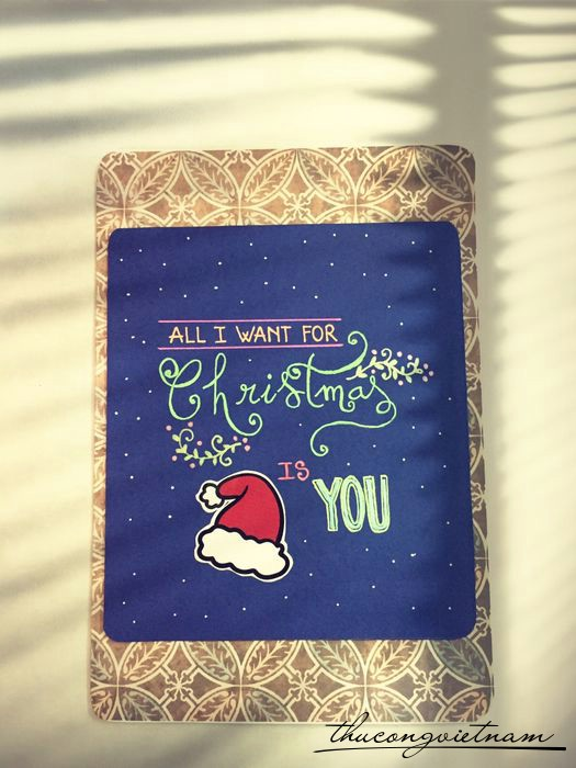 Thiệp giáng sinh All I want for Christmas is you