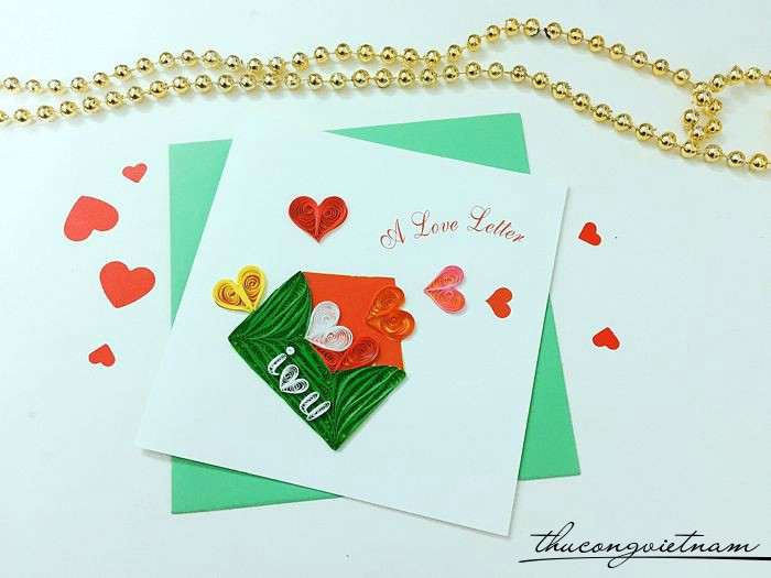 Thiệp quilling A love letter