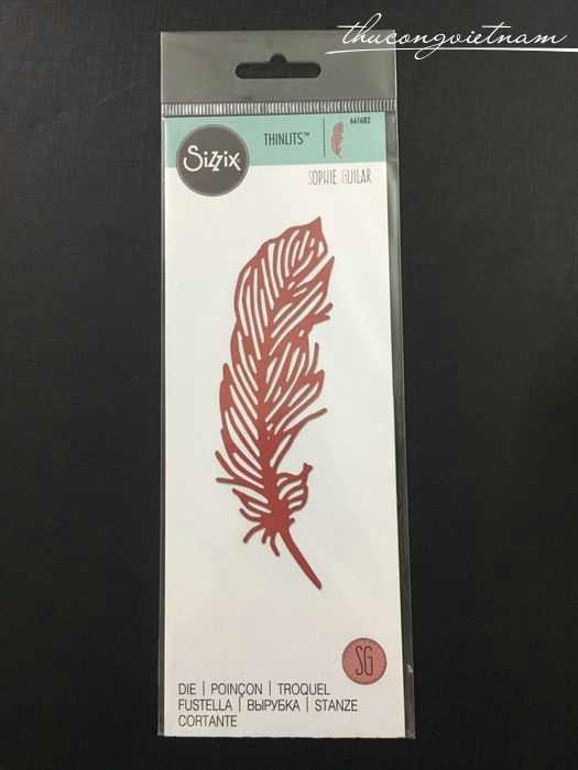662283-Khuôn cắt Sizzix Thinlits Delicate Feather