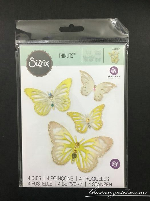 659707-Khuôn cắt Sizzix Thinlits Winged Beauties