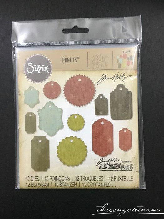662423-Khuôn cắt Sizzix Thinlits Gift Tags