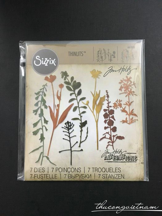 661808-Khuôn cắt Sizzix Thinlits Wildflowers