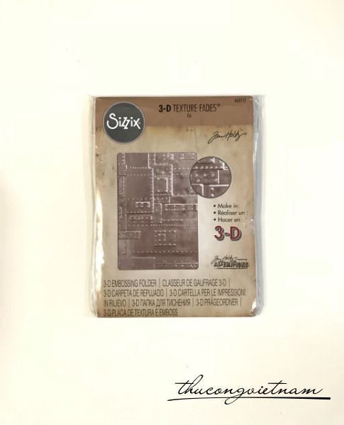 662717-Khuôn cắt Sizzix Embossing Folder 3D Foundry