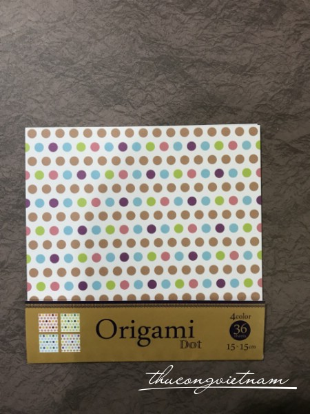 Giấy origami dots 36 tờ